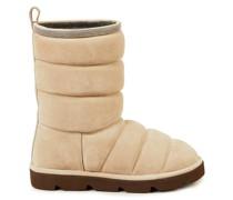Veloursleder-Boots Taupe