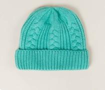 Baby-Cashmere-Mütze Green Spruce