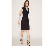 Zweifarbiges Kleid 'Alexander' Marineblau/Schwarz