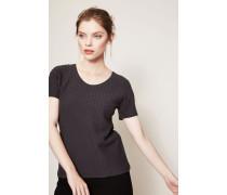 Strukturiertes Shirt Grau