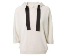 Cashmere-Pullover mit Kapuze Beige
