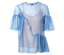 Zweilagiges Shirt mit Sternen Blau/Silber