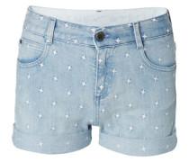 Jeans-Shorts mit Sternen Blau