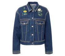 Jeansjacke mit Nieten-Verzierung Blau