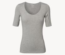 Weiches Rundhals-Neck-Shirt Grau