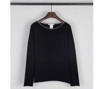 Leichter Baumwoll-Pullover Schwarz