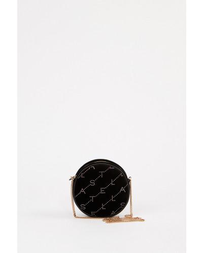 Runde Samttasche 'Mini Round Bag' Schwarz