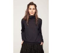 Pullover aus Cashmere und Seide Marineblau