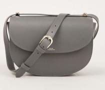 Umhängetasche 'Half-Moon Bag' Grau