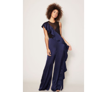 Jumpsuit 'Slvls Ruffle' Midnight/Black