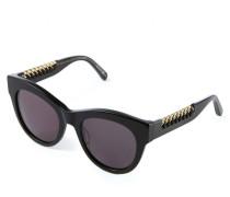 Sonnenbrille mit Ketten-Details Schwarz