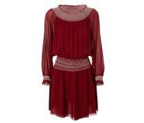 Schulterfreies Kleid 'Indie' Bordeaux