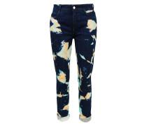 Boyfriend Jeans mit Batik-Details Dunkelblau