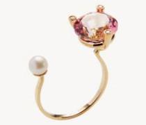 Ring 'Pink Gold' mit Diamanten und Topaz Gold/Pink