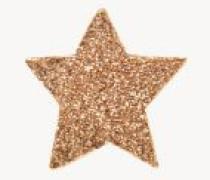 Sternenförmiger Ohrstecker 'Superstellar' 18 Karat Roségold
