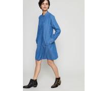 Jeans-Hemdblusenkleid 'Saffron' Indigo