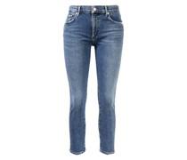 Jeans 'Toni' mit ausgefranstem Saum