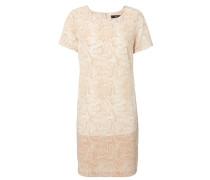 Kleid in Schlangenoptik Weiß/Nude