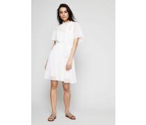 Kleid mit Lochmuster Weiss