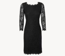 Kleid mit Spitzenverzierung 'Zarita Long' Schwarz