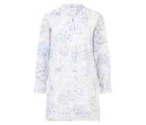 Florale Tunika 'BethL' Blau/Weiß