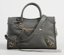Schultertasche 'Classic Metallic City' Anthrazit