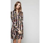 Seidenkleid mit floralem Muster Multi