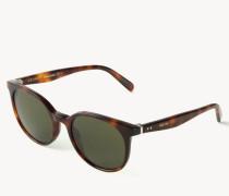 Runde Sonnenbrille 'Preppy' Hornoptik