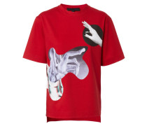 T-Shirt mit Print-Details 'Crimson' Rot