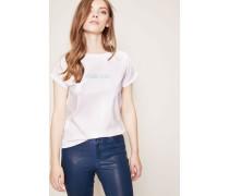 T-Shirt 'Melrose Place' Weiß