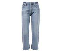 Straight Leg Jeans 'Emery Cropped Relaxed' Hellblau