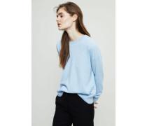 Oversized Cashmere Pullover Mittelblau