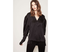 Seidenbluse 'Camas Shirt' Schwarz