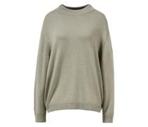 Cashmere-Seiden-Pullover mit Paillettendetail Khaki