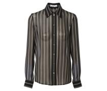Bluse mit Streifenmuster Schwarz/Weiß