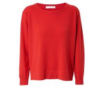 Cashmere-Sweatshirt Rot
