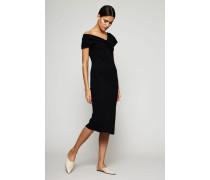 Klassisches Kleid 'Asym Slv Knotted Dress' Schwarz