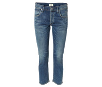 Jeans 'Elsa High Rise Slim Straight' Mittelblau