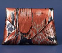 Clutch aus geprägtem Leder Multi