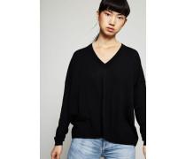Klassischer V-Neck Pullover 'Kalla' Schwarz