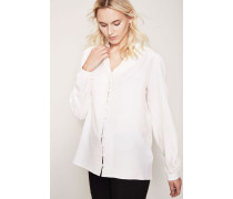 Puffärmel-Bluse Weiß