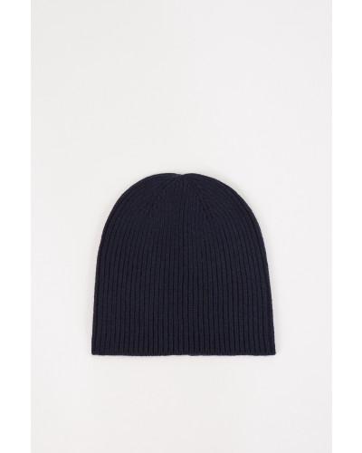 Woll-Cashmere-Mütze Marineblau
