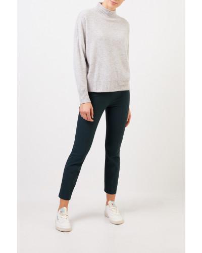 Woll-Cashmere-Pullover mit Turtleneck Grau