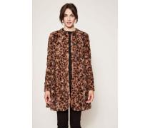 Mantel aus Fakefur mit Leoparden-Muster Multi
