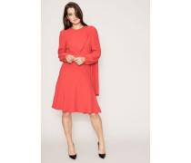 Kleid mit Puffärmeln Rot