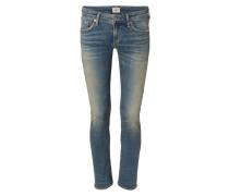 Gerade Jeans 'Racer' im Vintage-Look Mittelblau