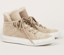 High-Top-Sneaker mit Lammfell 'Anne' Beige