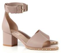 Sandalette mit Nieten Puder