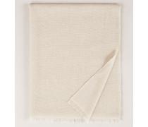Cashmere-Seiden-Schal mit Pailletten Beige