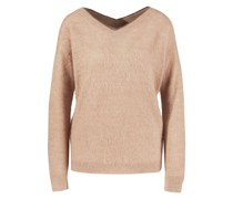 Mohair-Woll-Cashmere-Pullover Rosé